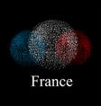flag of france in the form of spheres on a black vector image vector image