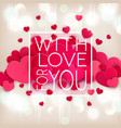 for valentines day hearts on a vector image vector image