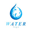 freshwater conceptual blue emblem for use in vector image vector image
