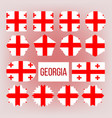 georgia flag collection figure icons set vector image vector image