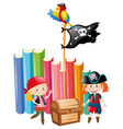 girls dressed up as pirate crews vector image vector image