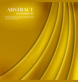 Gold Template Abstract background with vector image vector image