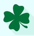 green shamrock clover icon vector image vector image