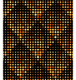 Halftone Rhombus Tiles Gold Metal Colors Seamless vector image
