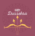happy dussehra festival india bow and arrow vector image vector image