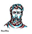 heraclitus portrait vector image vector image
