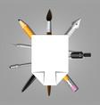 heraldry schools and arts organizations graphic vector image