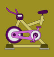 icon in flat design bicycle exercise vector image