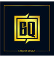 initial letter bq logo template design vector image