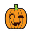 isolated happy jack-o-lantern vector image vector image