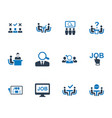job interview icons vector image vector image