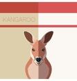 Kangaroo Flat Postcard vector image vector image
