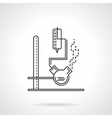 Laboratory equipment flat line icon vector image
