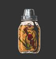 lemonade in mason jar vector image