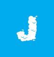 letter j cloud font symbol white alphabet sign on vector image vector image