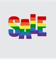 lgbt pride flag heart rainbow pride symbol sale vector image vector image