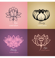 Lotus sign vector image