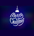 merry christmas holiday card with lettering vector image