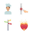 pain kitchen profession and other web icon in vector image vector image