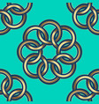 pattern gold flowers green vector image vector image