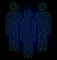 people polygonal frame mesh vector image