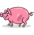 pig farm animal cartoon vector image vector image