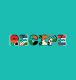 recipe concept word art vector image vector image