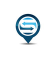 s letter gps logo vector image vector image
