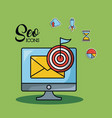 seo and web optimization concept vector image vector image