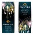set fireworks festive vertical banner vector image vector image