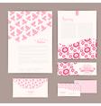 set floral vintage wedding cards invitations or vector image vector image