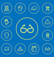 set of 12 editable trade icons line style vector image vector image
