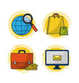 set of digital marketing icons vector image