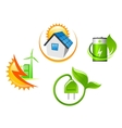 Set of ecological icons vector image vector image