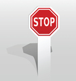 Sticker with stop sign vector image vector image