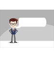 Template for message cartoon character - business vector image