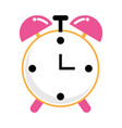 time clock cartoon vector image vector image