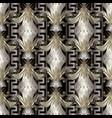 vintage baroque floral 3d seamless pattern vector image vector image