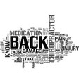 why put up with back pain visit a chiropractor vector image vector image