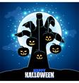 Zombies hand holding pumpkins Halloween vector image