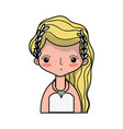 beauty bride with married dress and hairstyle vector image