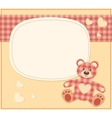Card with the teddy bear for baby shower vector image