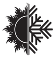 summer winter air conditioning icon21 resize vector image