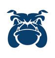 bulldog head cartoon mascot logo vector image