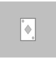 Diamonds card computer symbol vector image