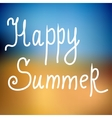 Happy summer Poster on beach background vector image