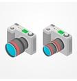 Isometric foto camera vector image