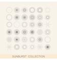 set of geometric sunburst and light ray shapes vector image