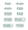 A set of stamps is paid vector image
