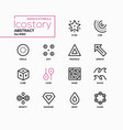 abstract signs and symbols - line design style vector image